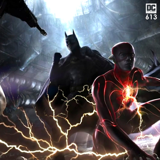Michael Keaton's batman and Ezra Miller's Flash
