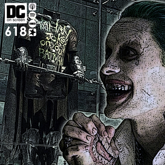 Jared Leto and the burnt Robin suit from batman v Superman: Dawn of Justice   Text: DC on SCREEN 618